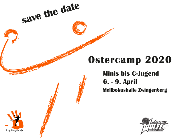 Save the date für das Ostercamp: 6.-9. April 2020